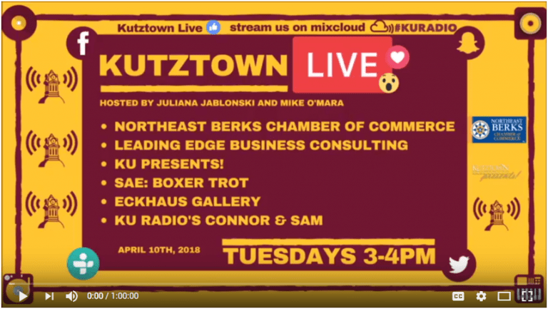 kutztown podcast with leading edge